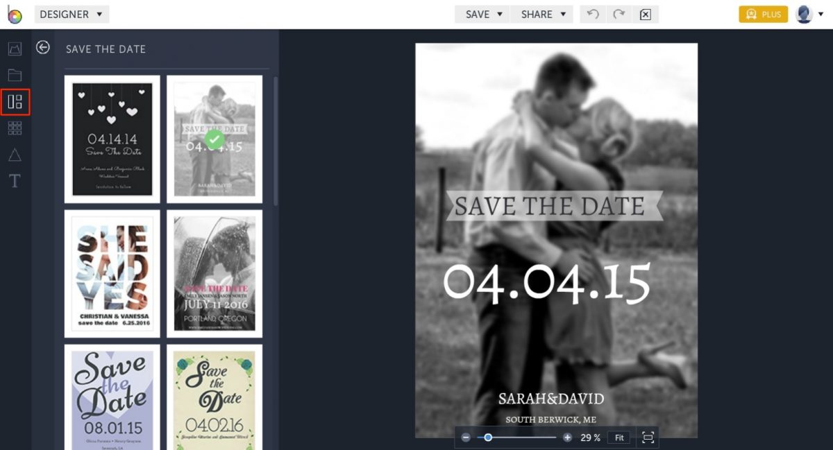 free save the date templates in BeFunky