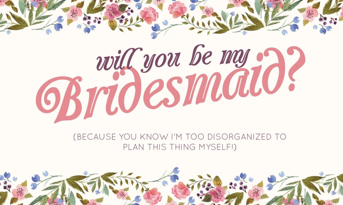 will you be my bridesmaid card ideas
