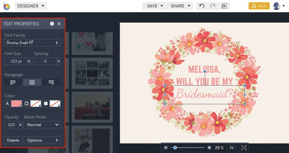 DIY will you be my bridesmaid card templates