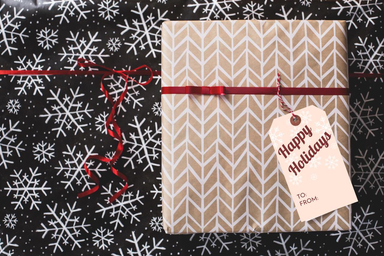 holiday gift tag diy tutorial