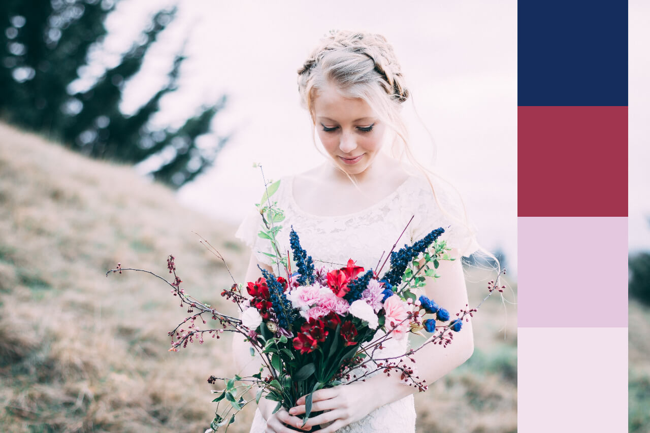 how to create a wedding color palette in BeFunky