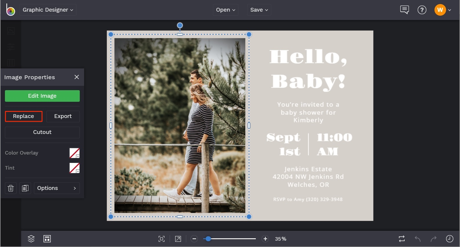 baby shower invitation templates by BeFunky