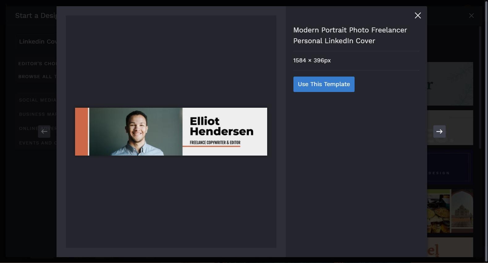 LinkedIn Cover with headshot