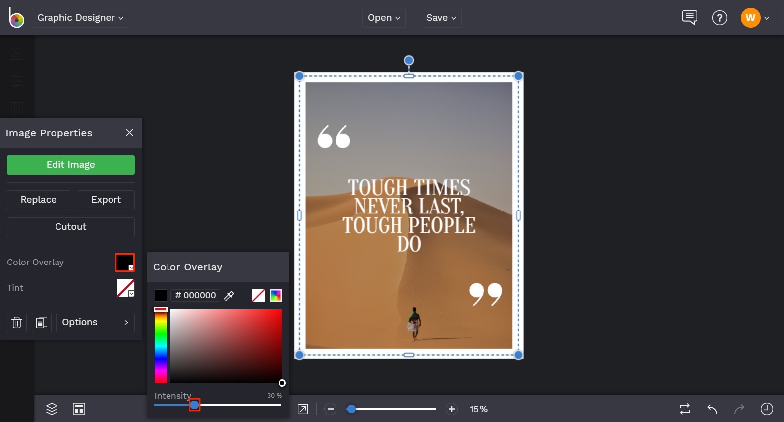 how to add color overlay to photo in BeFunky