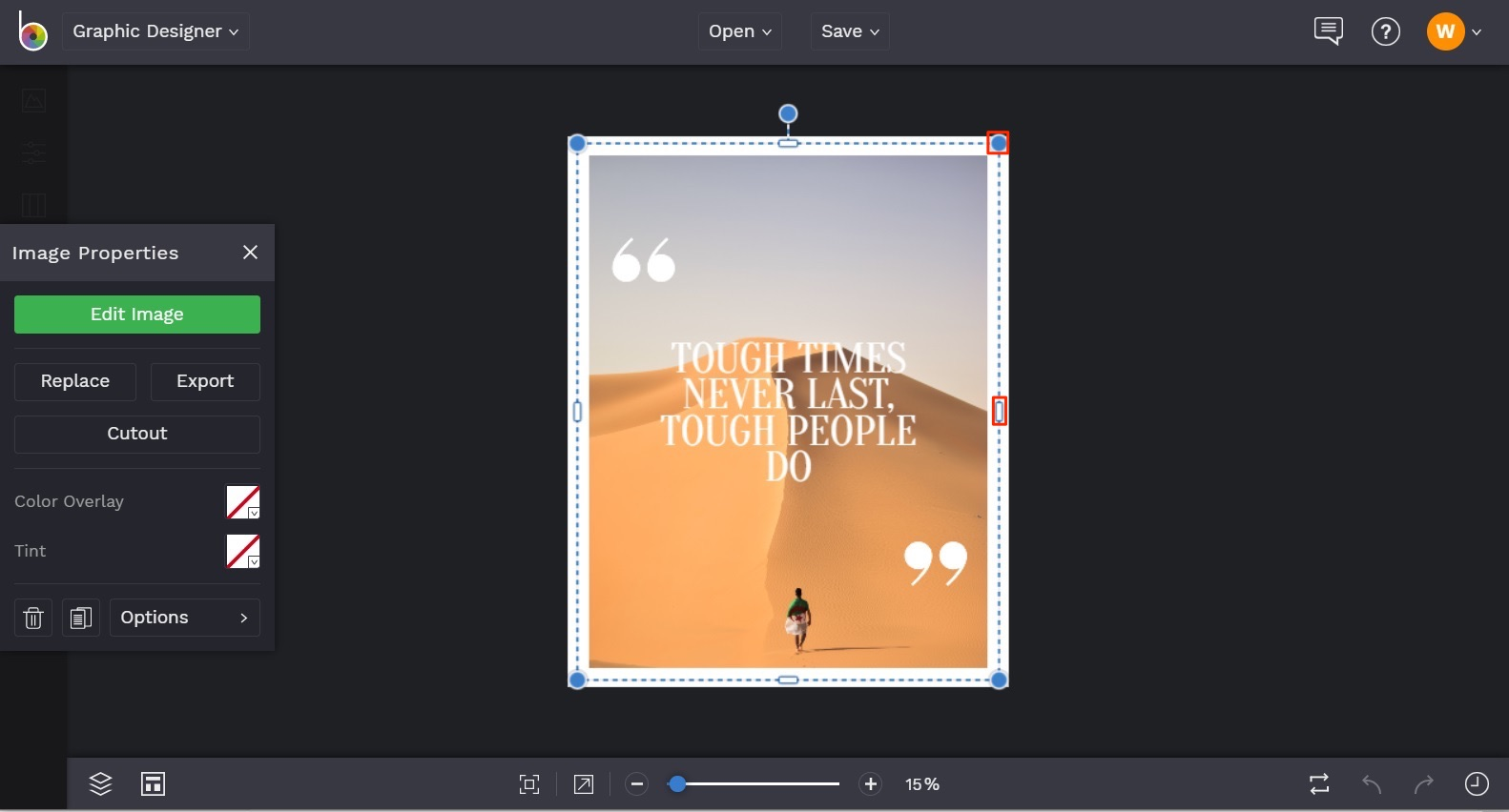 how to create photo quotes in BeFunky Graphic Designer