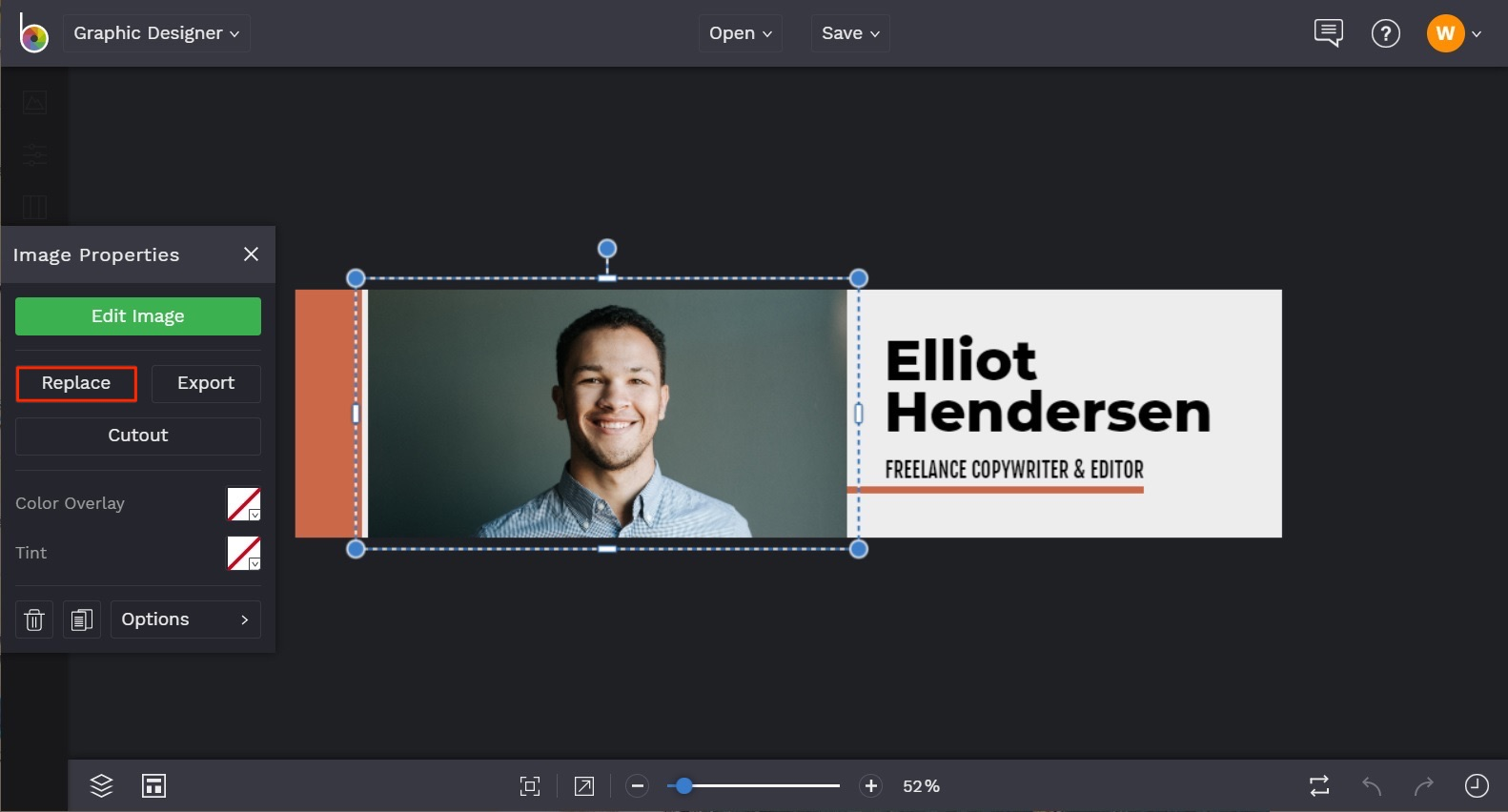 how to design LinkedIn Cover in BeFunky