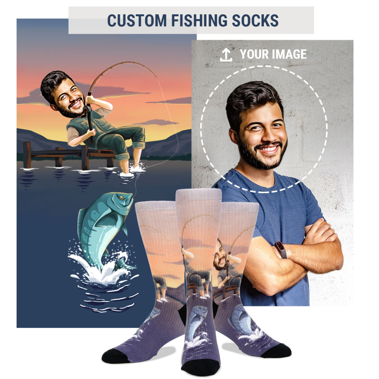 custom fishing socks