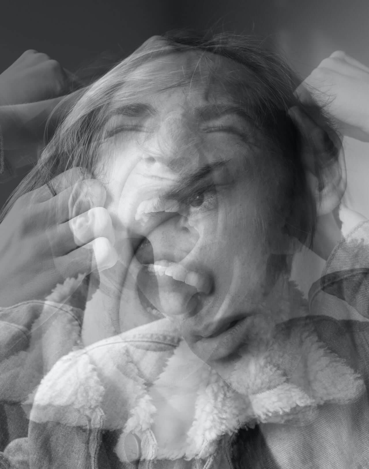 Haunted double exposure BeFunky