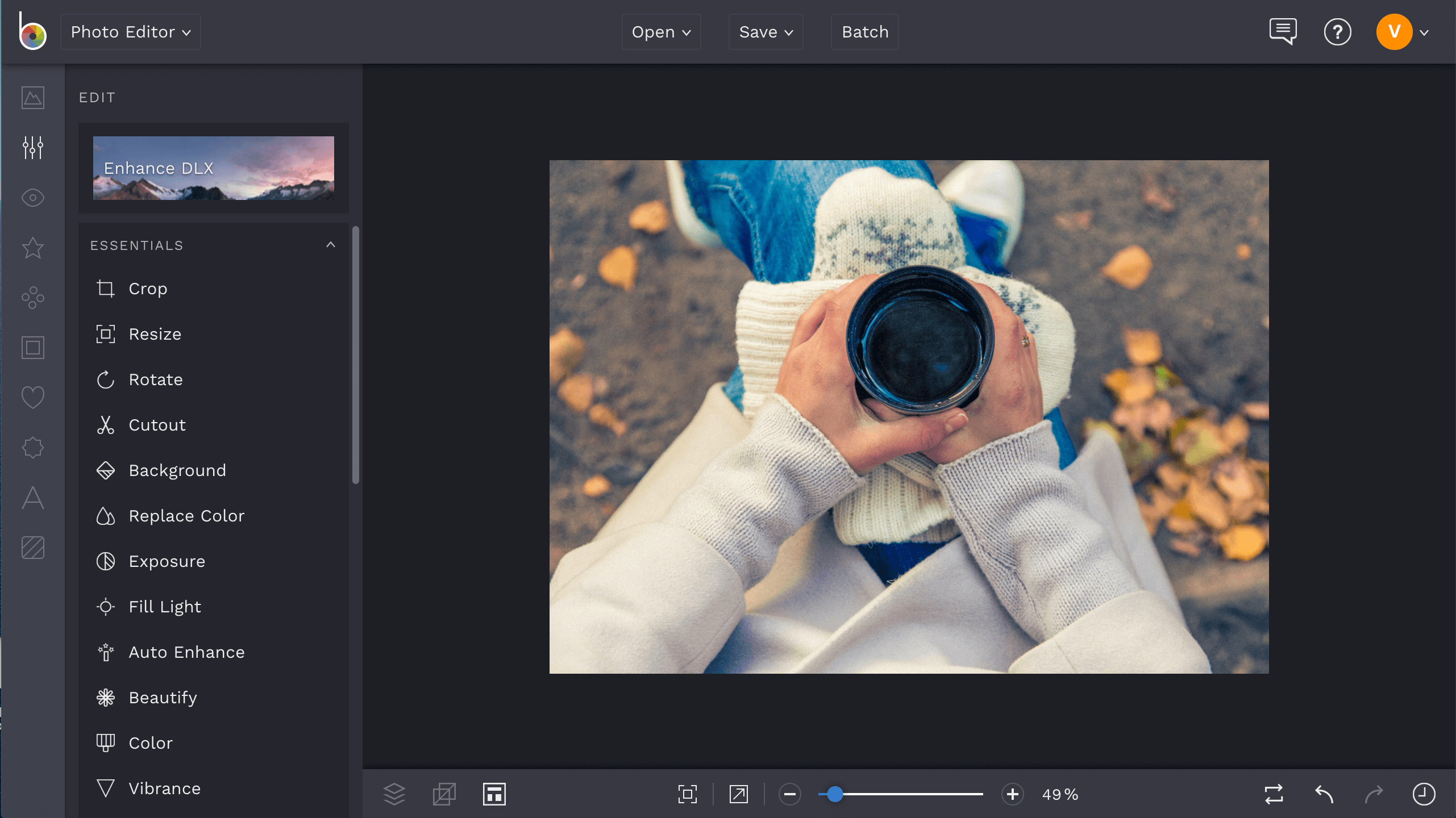 Edit photos for fall