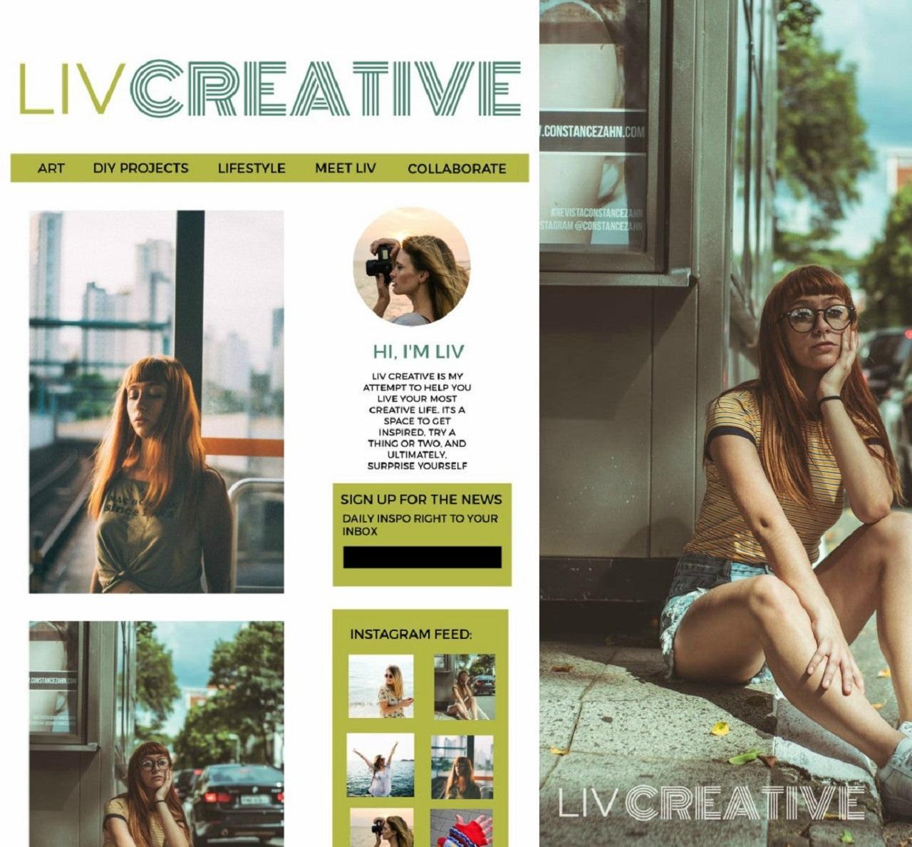 Create a blog logo in BeFunky