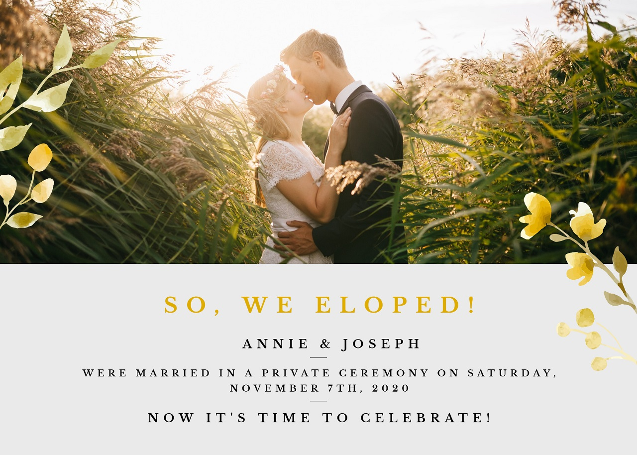 Final elopment announcement