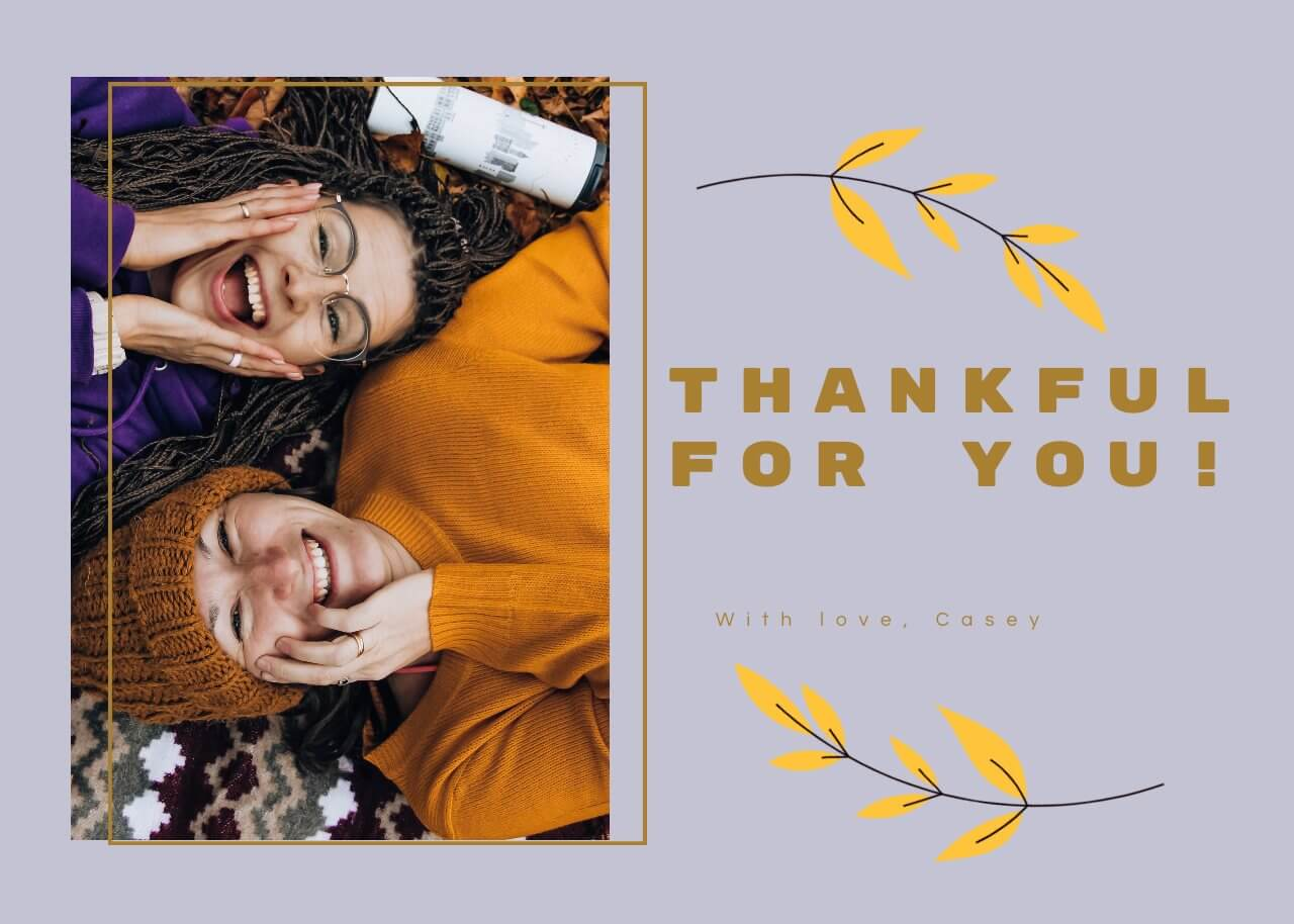 Thanksgiving Thank You Card