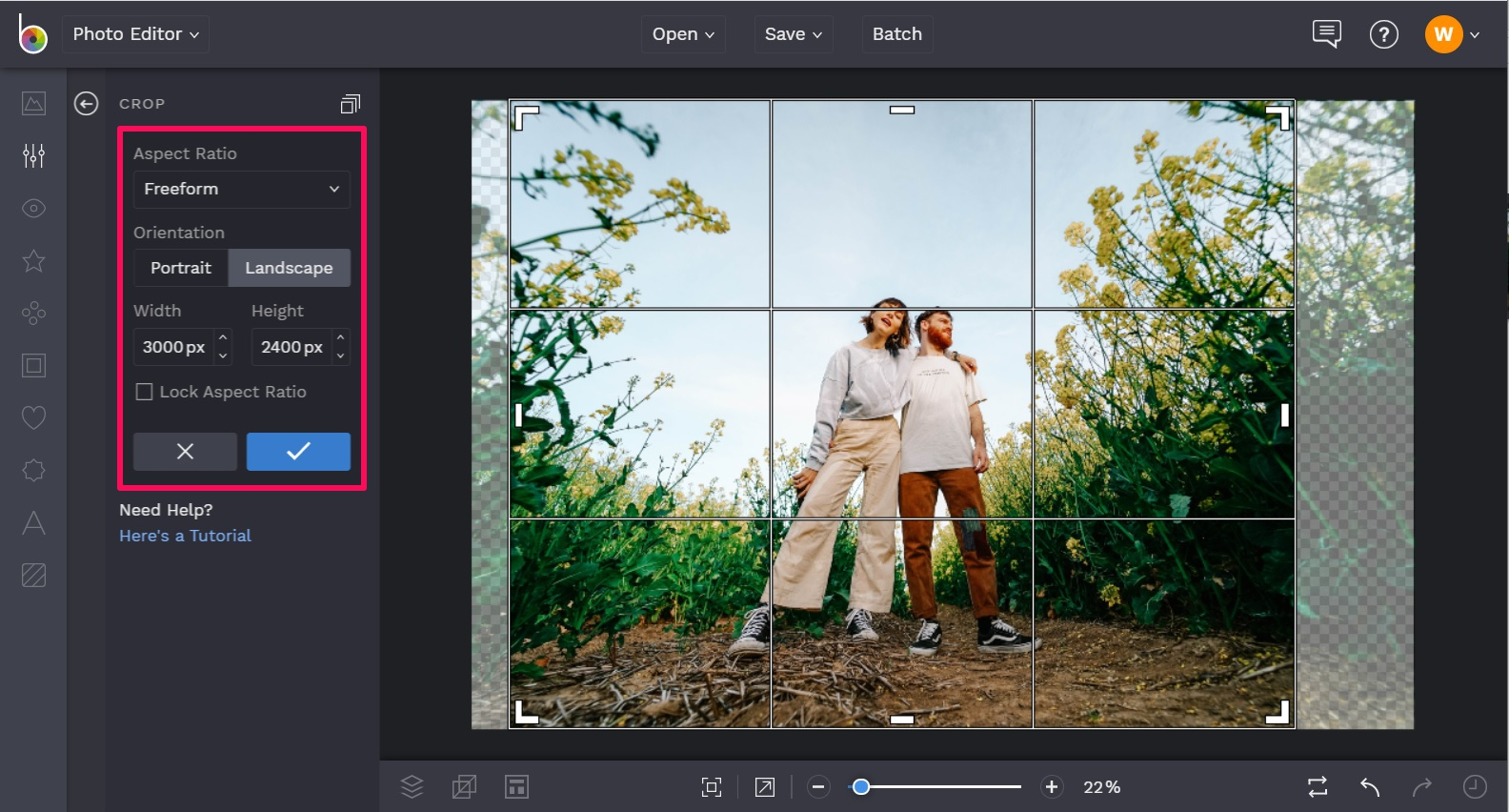 Crop your photo for print
