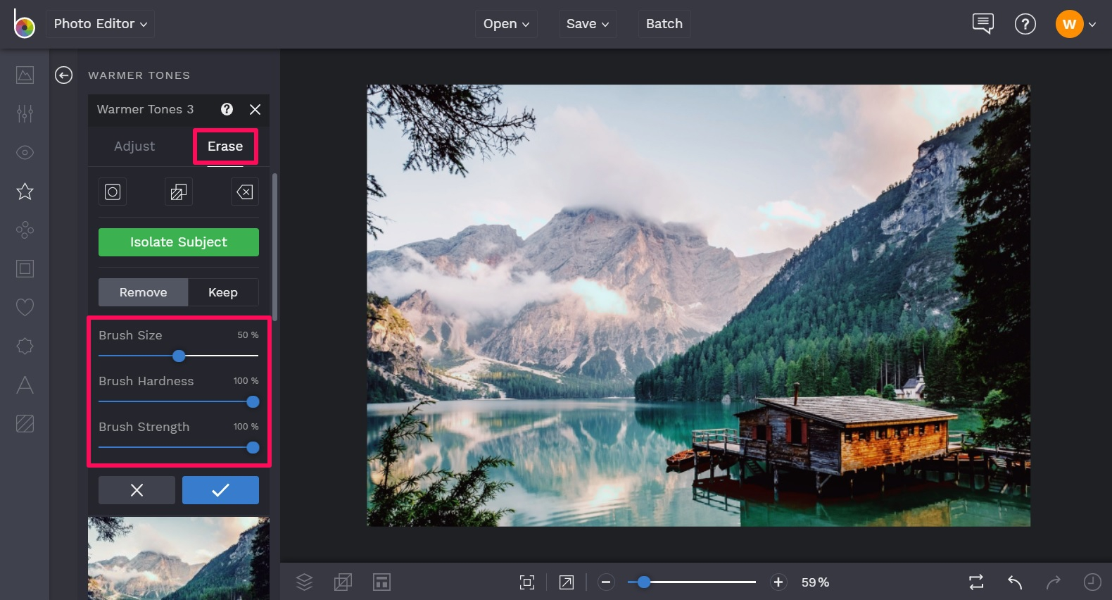 Customize your warm tone photography