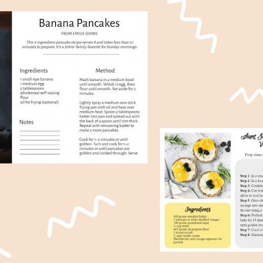 custom recipe card maker by BeFunky