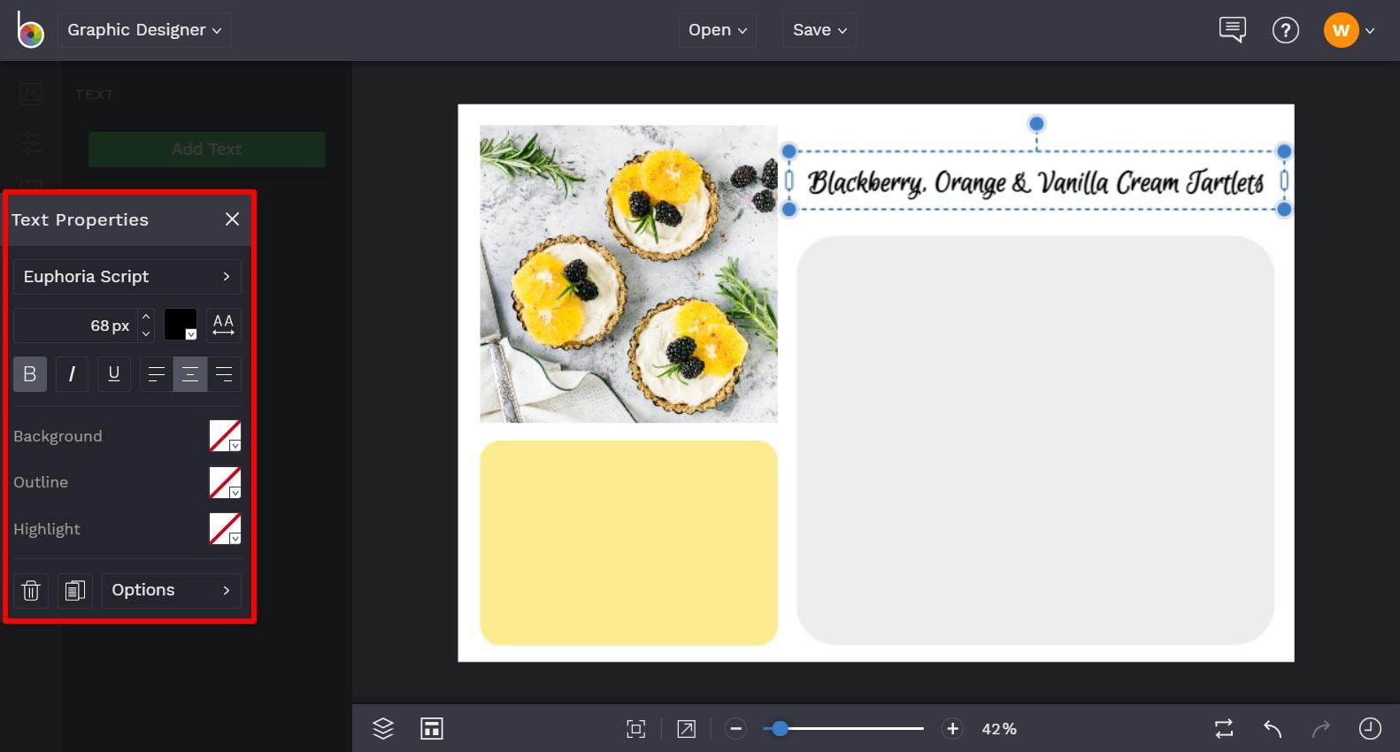recipe card maker by BeFunky