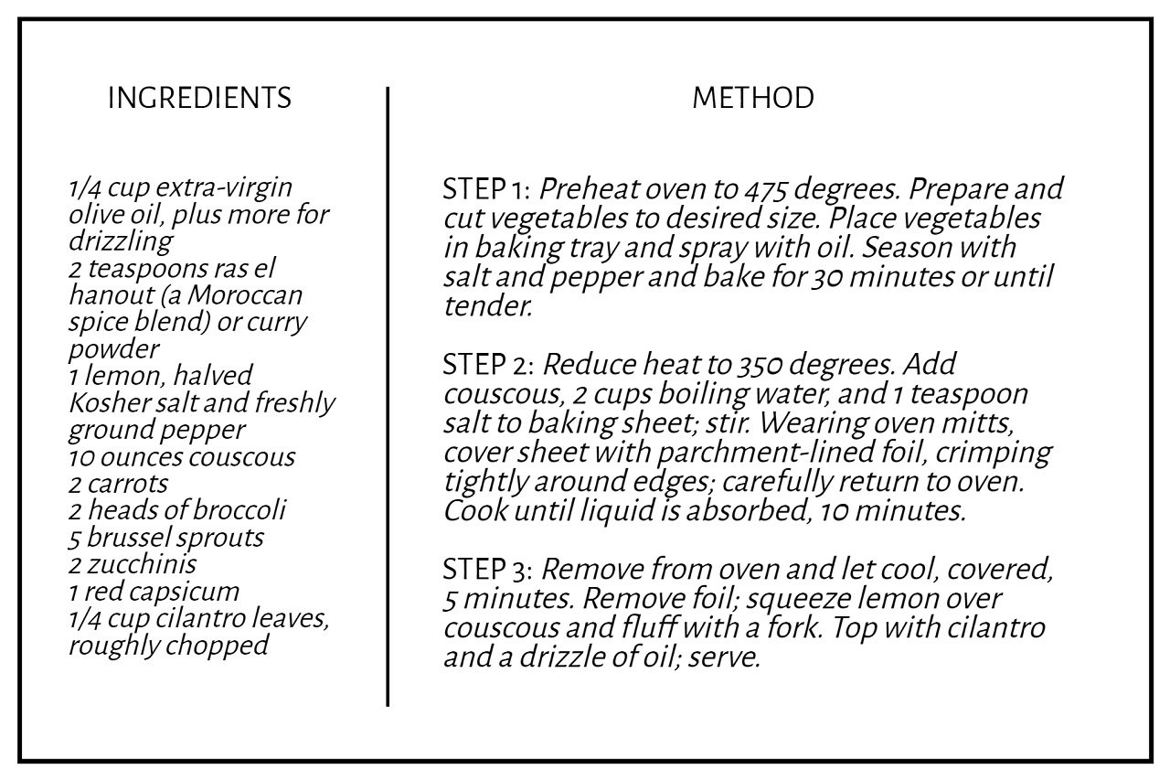 double sided recipe card template in BeFunky Graphic Designer