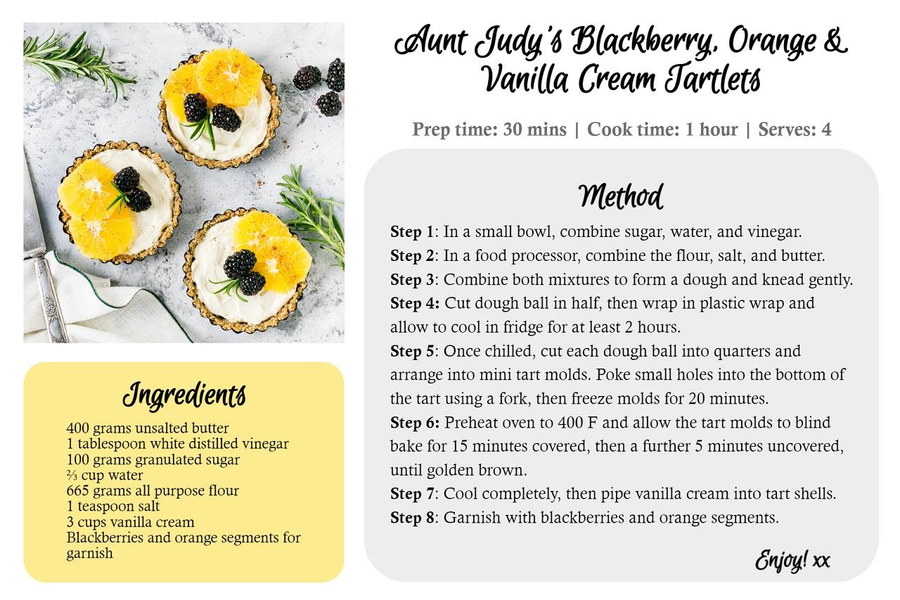 recipe card maker online by BeFunky