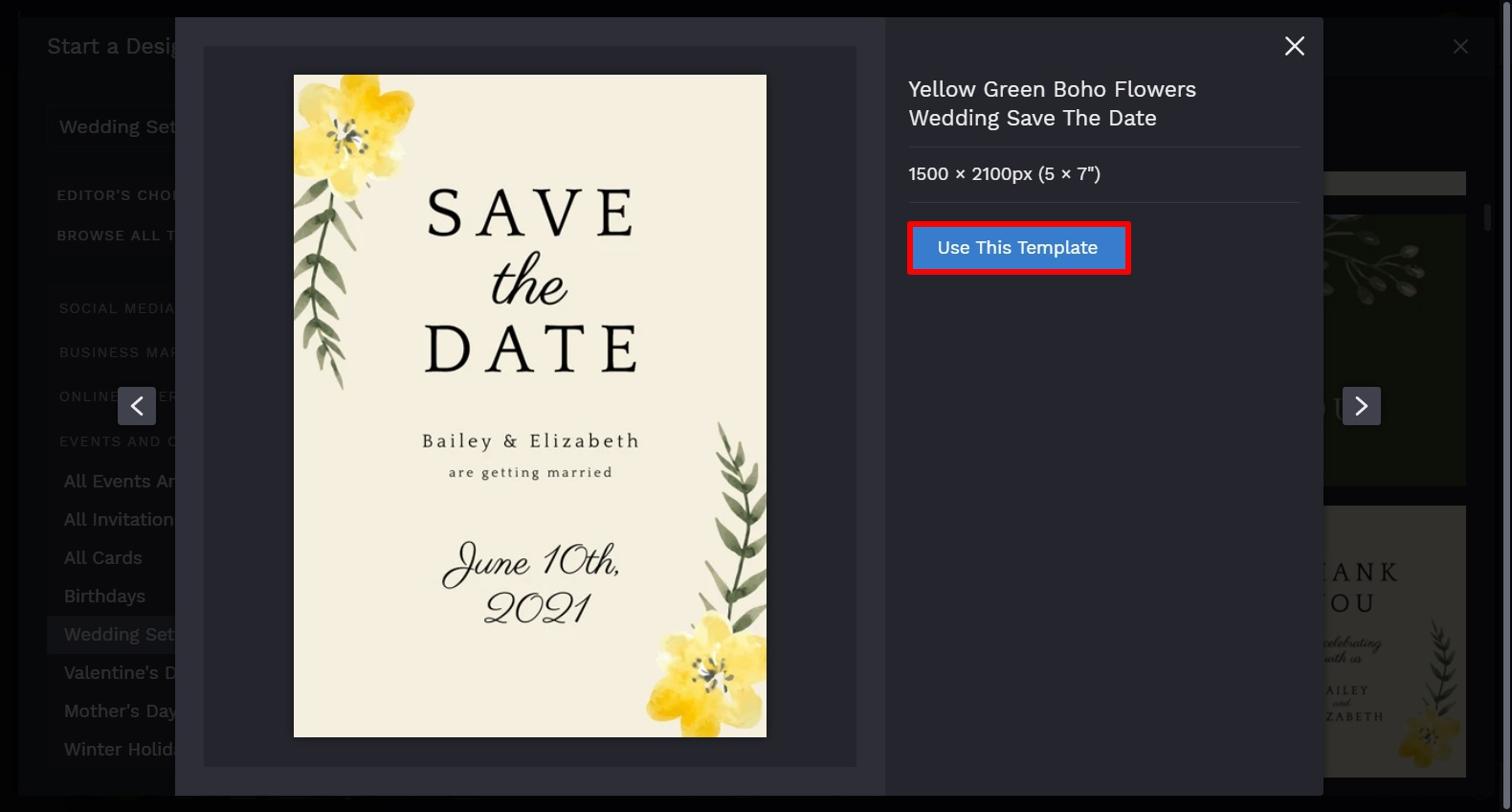 save the date template by BeFunky Graphic Designer
