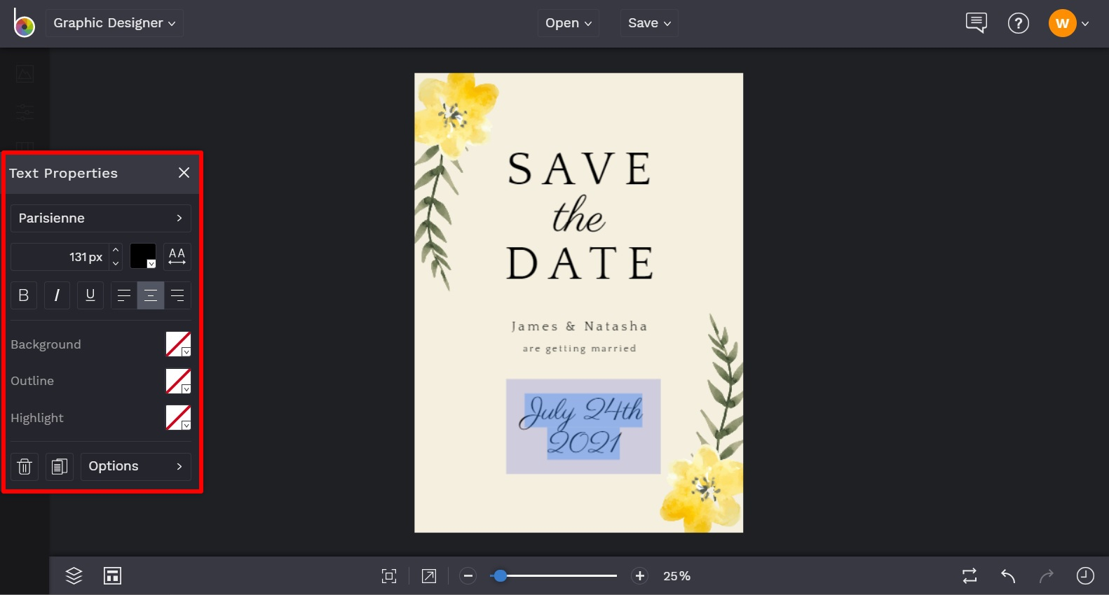 customizable save the date invitations by BeFunky